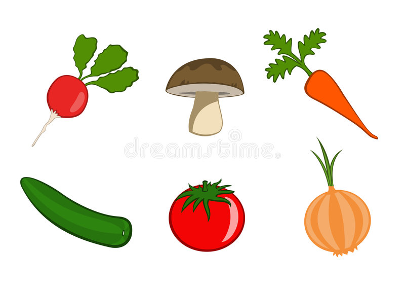 Download Vegetable Icons Royalty Free Stock Photography - Image: 7479747