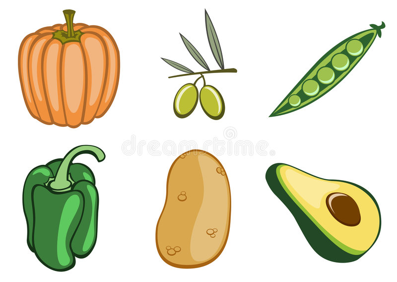Download Vegetable icons stock vector. Image of object, plant, crop - 7479768