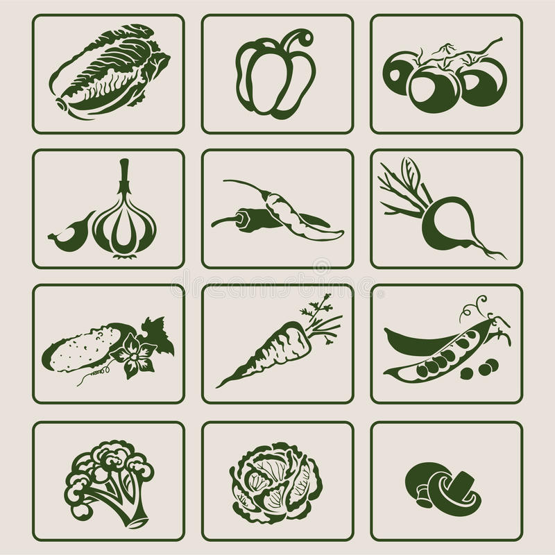 Vegetable icons royalty free stock image