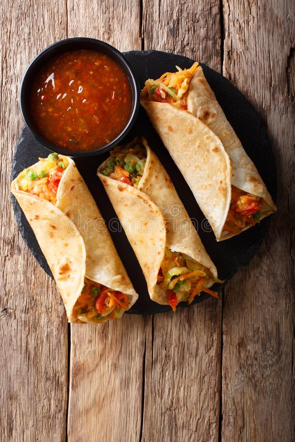 Vegetable Indian Rolls are filled with a tasty concoction of car royalty free stock image