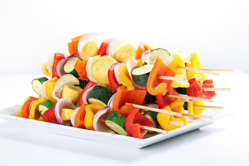 Download Vegetable Kabobs On A Plate Stock Photo - Image: 15148812