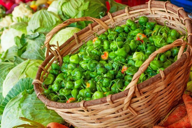 Vegetable market in Sri Lanka. stock images
