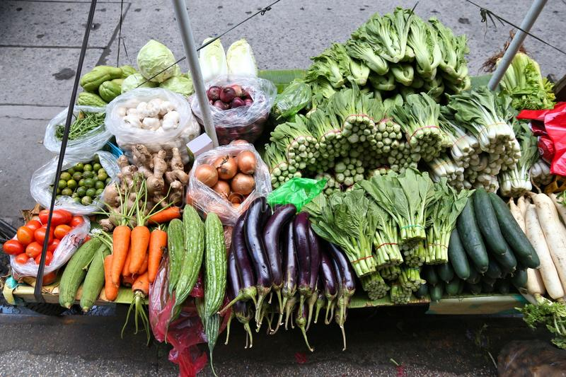Vegetable market stand stock photography