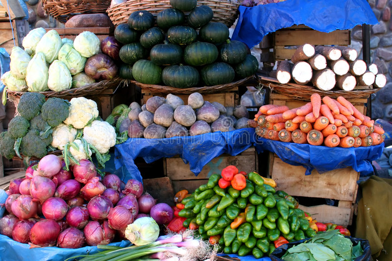 Vegetable Market in Sucre royalty free stock photos