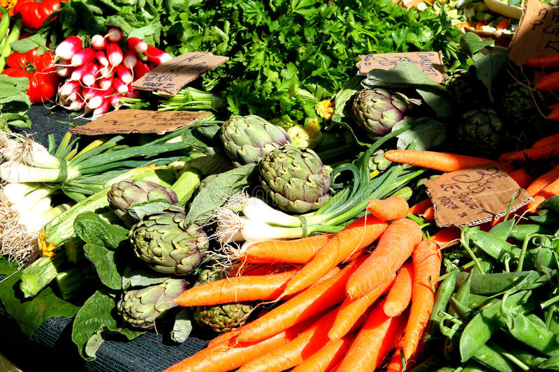 Vegetable market royalty free stock photography