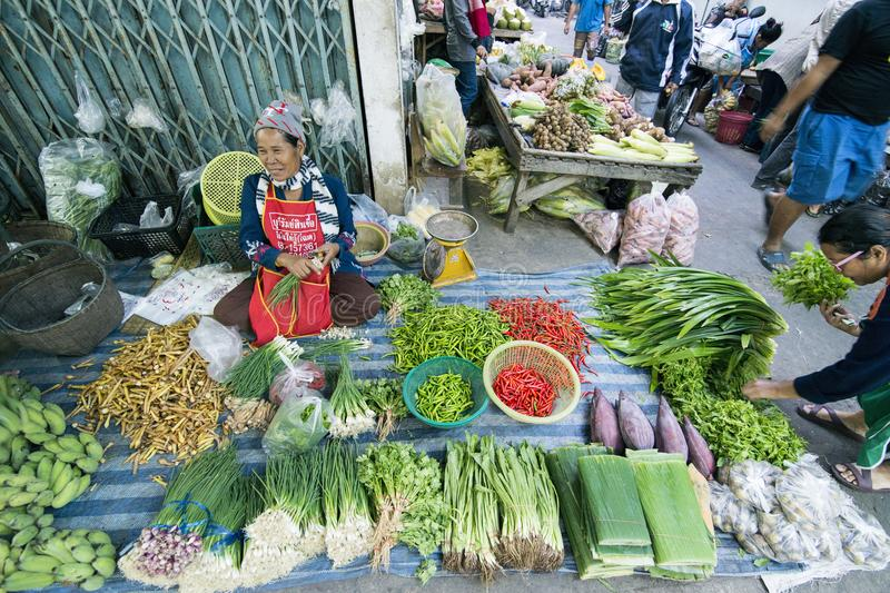 THAILAND BURIRAM MARKET royalty free stock photography
