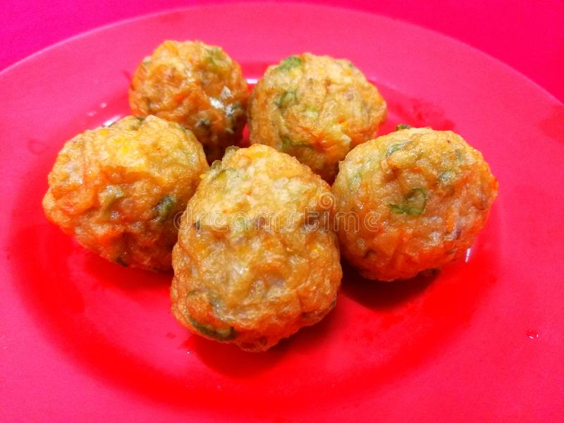 Vegetable meat balls. Delicious vegetable meat ball for steamboat royalty free stock photography