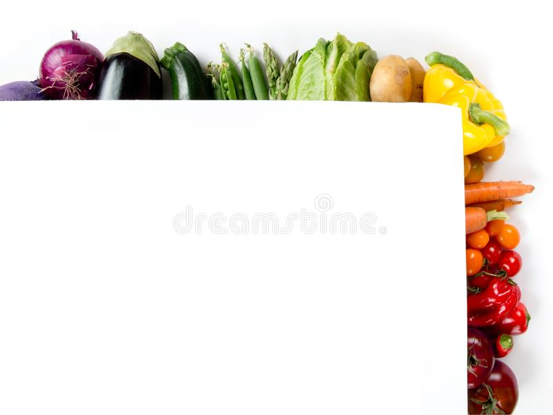 Rainbow Colorful Abstract Vegetable Frame stock photo