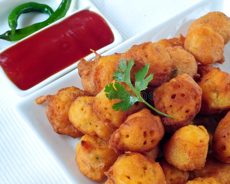 Vegetable Pakora stock image