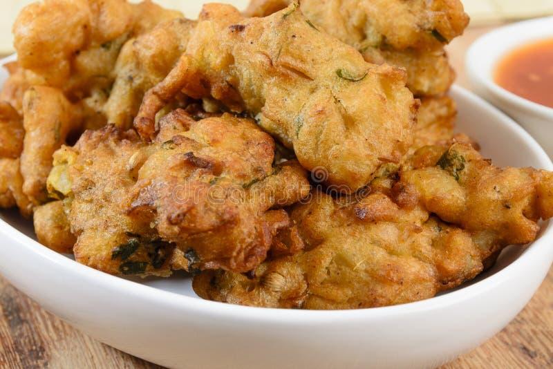 Vegetable Pakora or Onion Bhajis stock photography