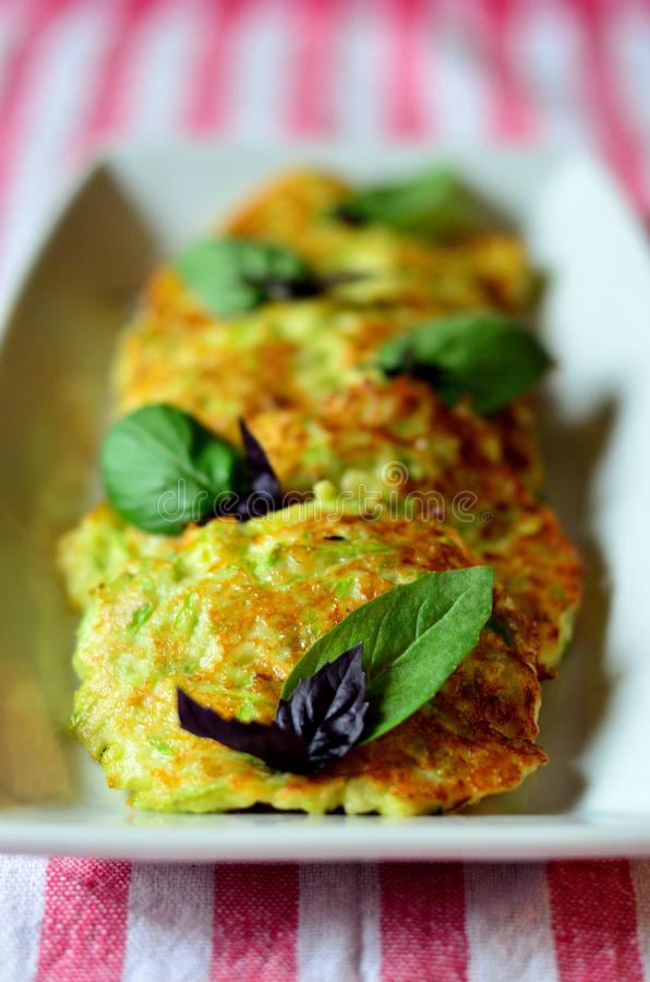 Vegetable pancakes royalty free stock images