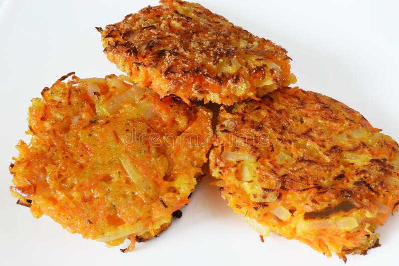 Vegetable patties royalty free stock images
