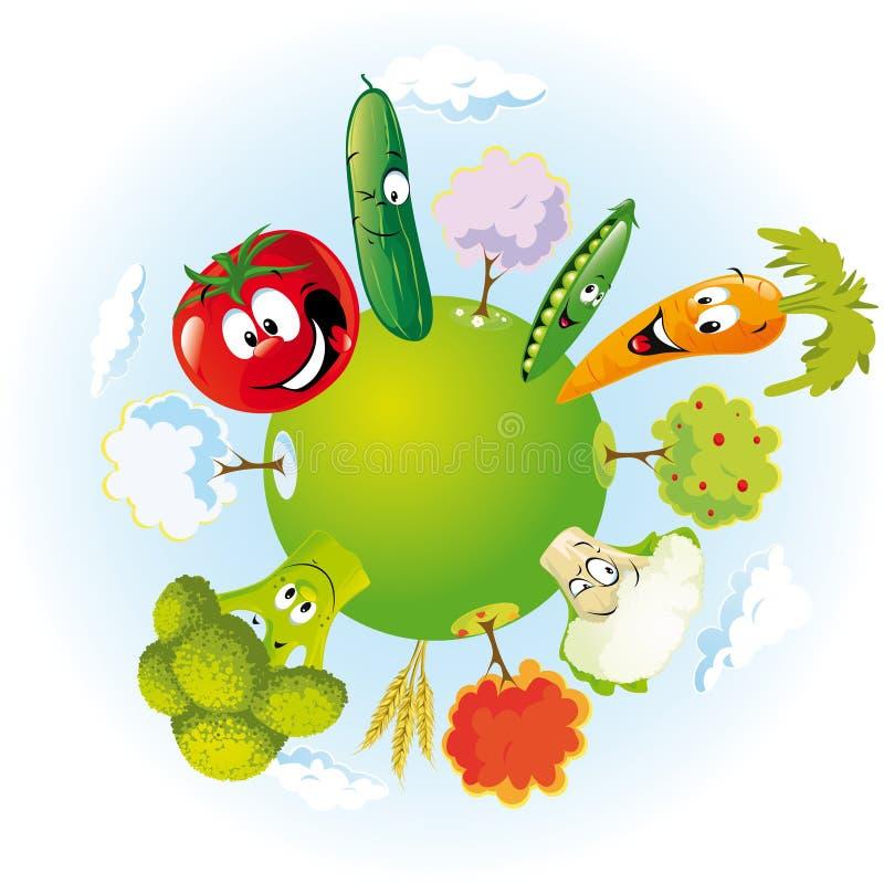 Vegetable planet stock illustration