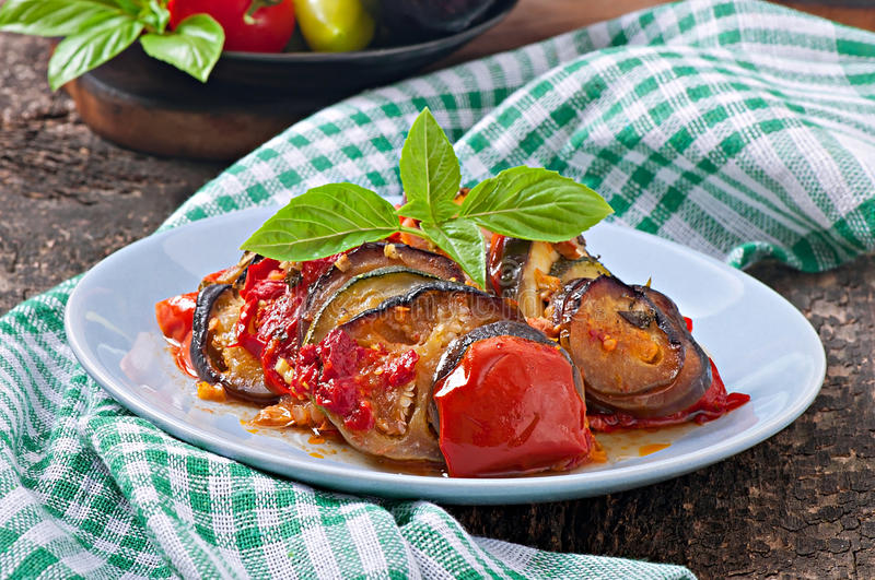 Vegetable Ratatouille. Famous French dish from Provence - Vegetable Ratatouille royalty free stock photography