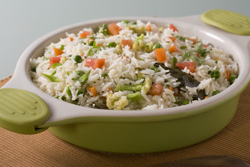 Vegetable Rice or Indian Vegetable Biryani royalty free stock photos
