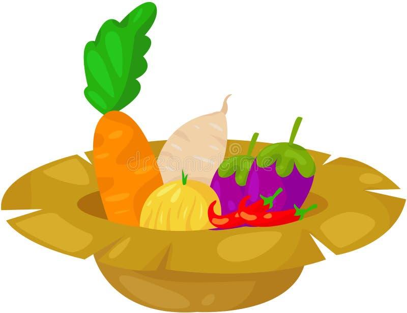 Vegetable in rip hat stock illustration
