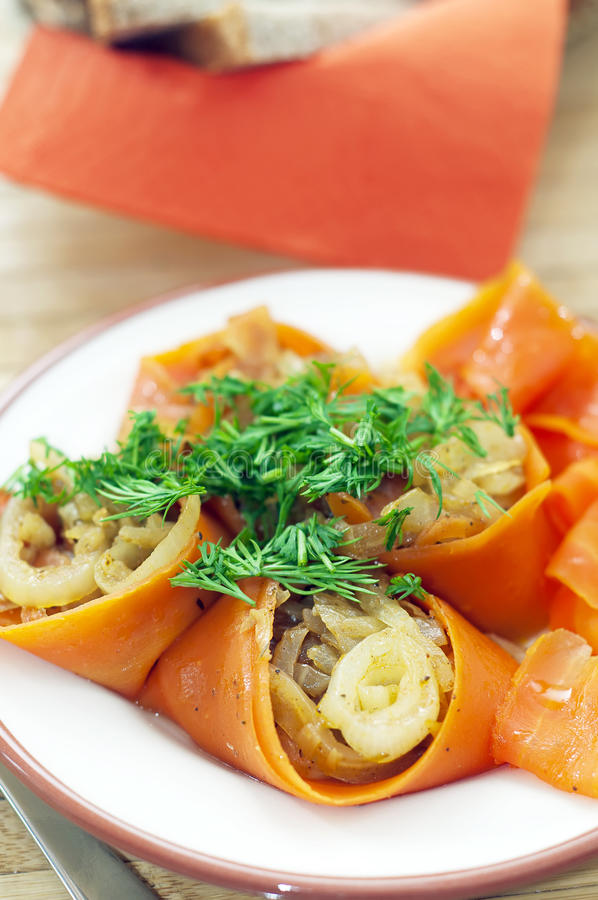 Vegetable rolls stock images