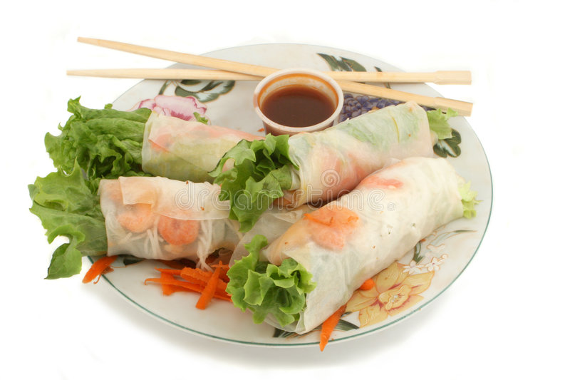 Vegetable rolls royalty free stock images