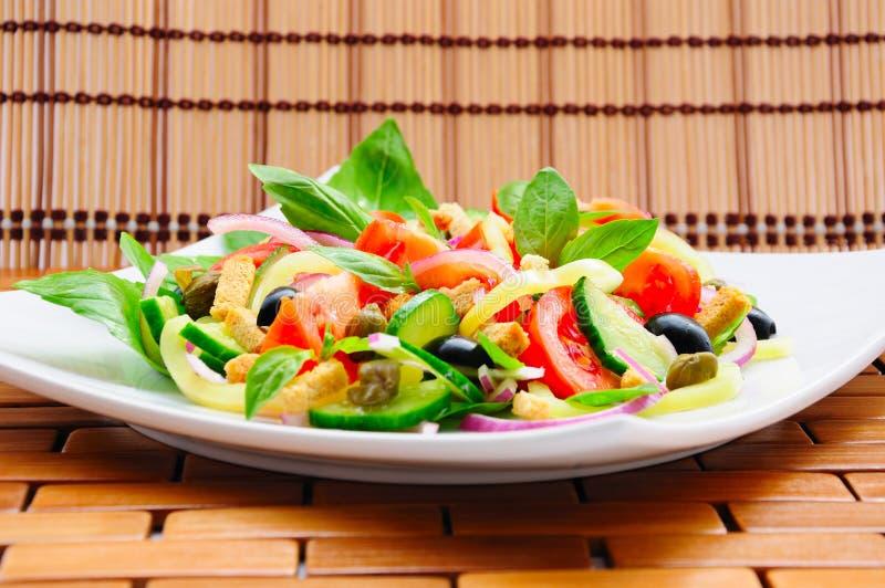 Vegetable Salad With Basil Stock Image