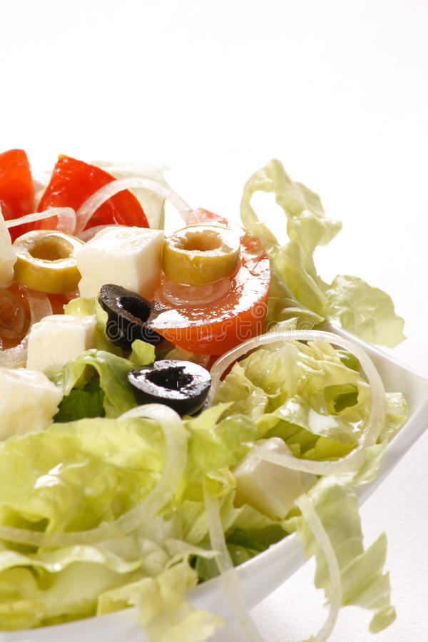 Download Vegetable salad with feta stock image. Image of appetizing - 14783927