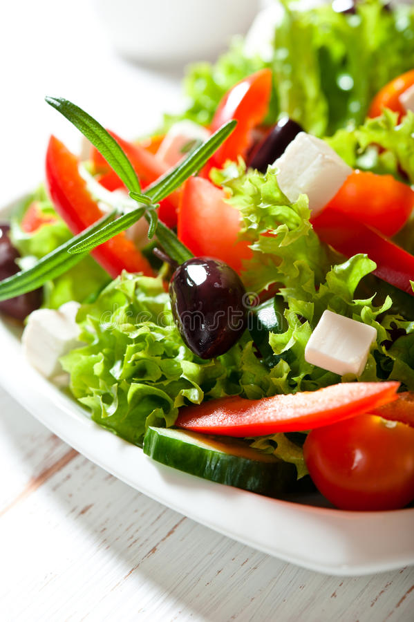 Download Vegetable Salad With Feta And Olives Stock Photo - Image: 22647236