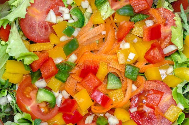 Vegetable salad mixed salad fresh color stock photo