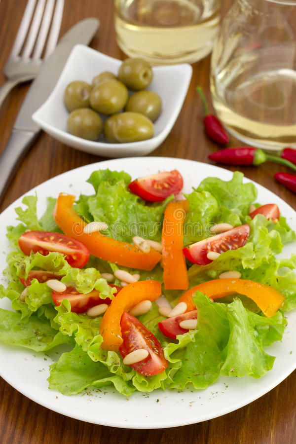 Download Vegetable Salad On The Plate Stock Image - Image: 27783521