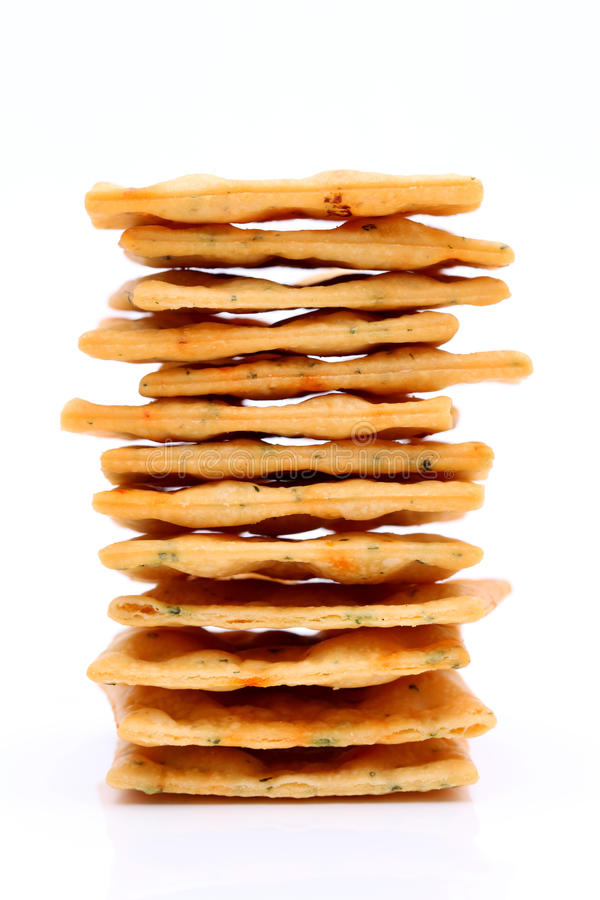 Vegetable salty crackers royalty free stock photo
