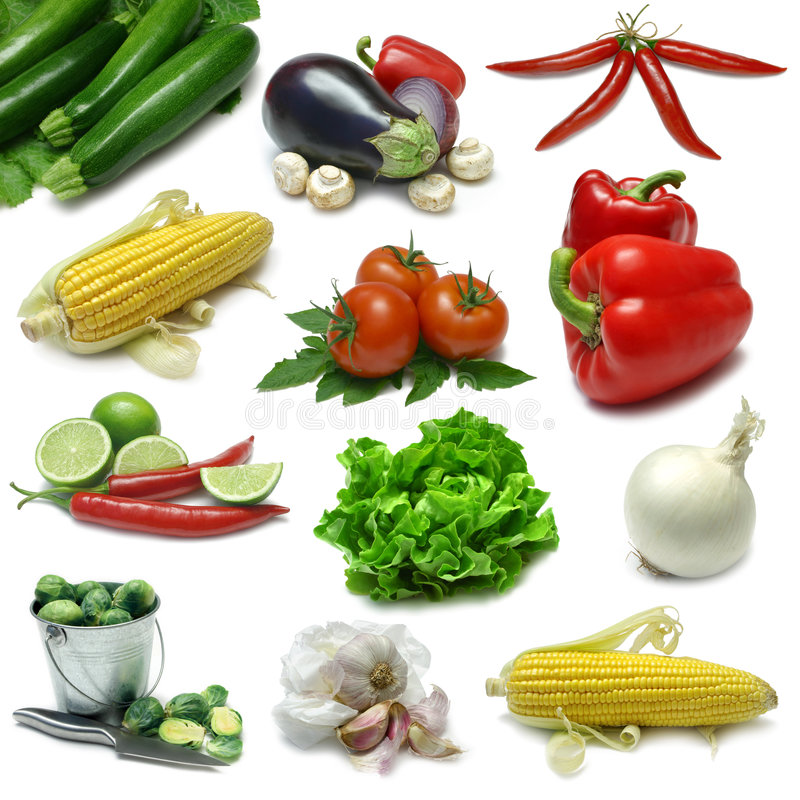 Download Vegetable Sampler stock image. Image of chili, onion, isolated - 6431763