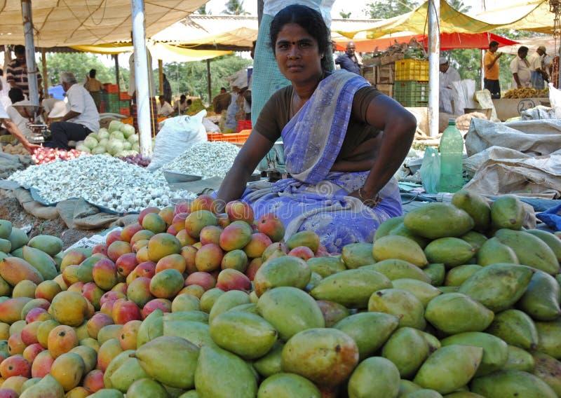 Vegetable seller India stock photo