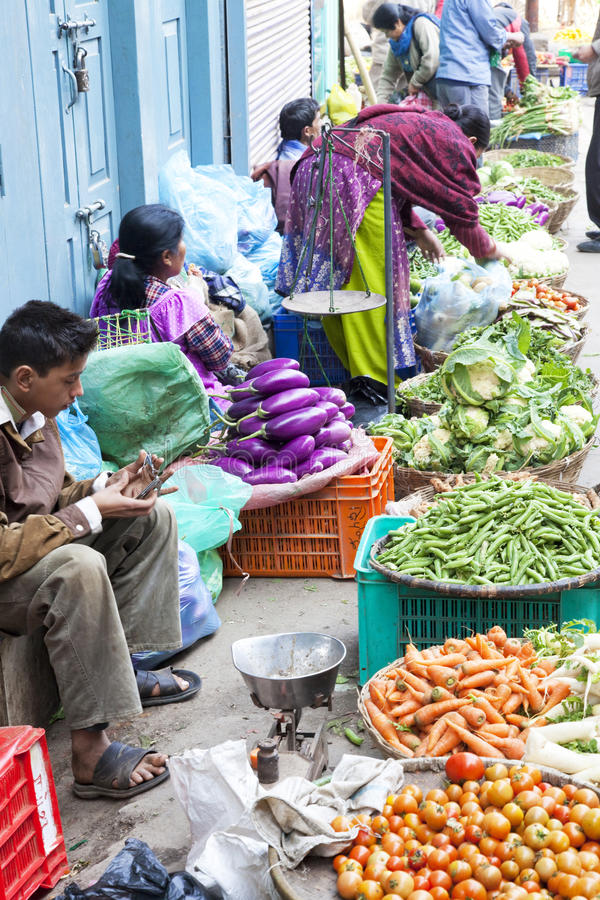 Download Vegetable Sellers, Kathmandu, Nepal Editorial Stock Image - Image: 12745579