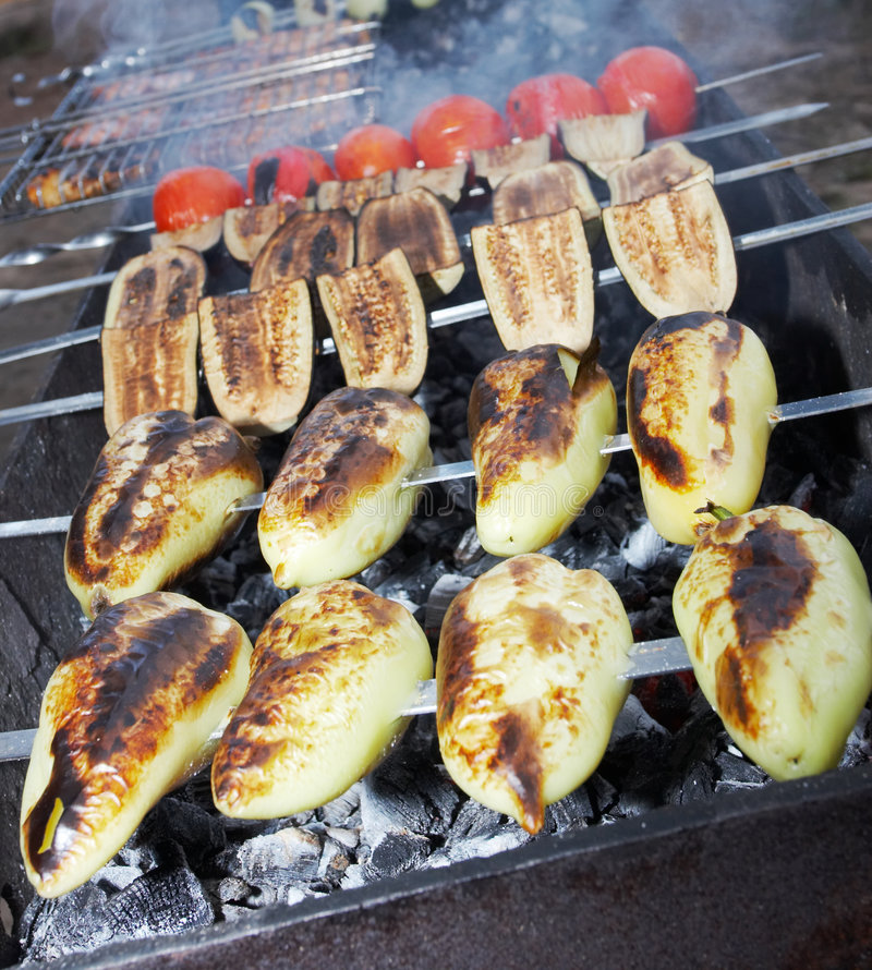 Free Vegetable Shish Kebab Stock Image - 2962501