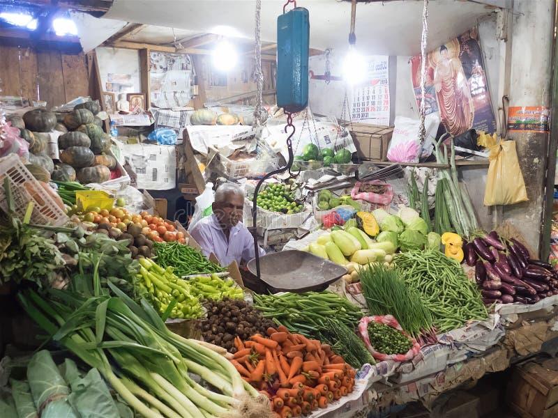 Vegetable shop in Dambulla Sri Lanka stock photography
