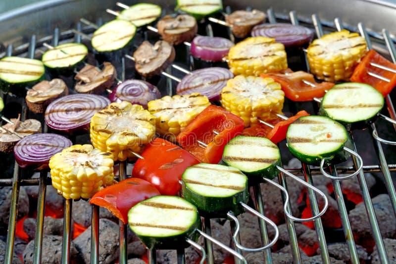 Vegetable skewers stock photos