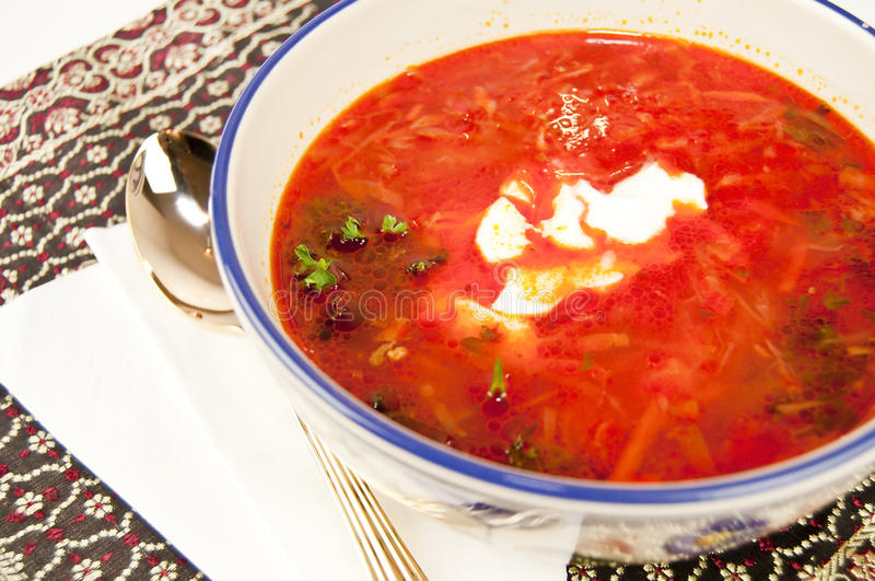 Download Vegetable soup stock image. Image of cream, food, borscht - 18092881