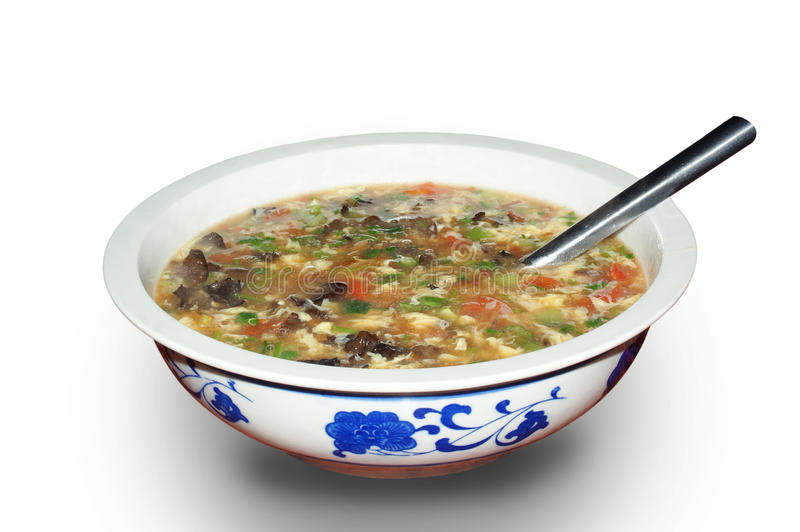 Vegetable soup. A bowl of vegetable soup stock photos