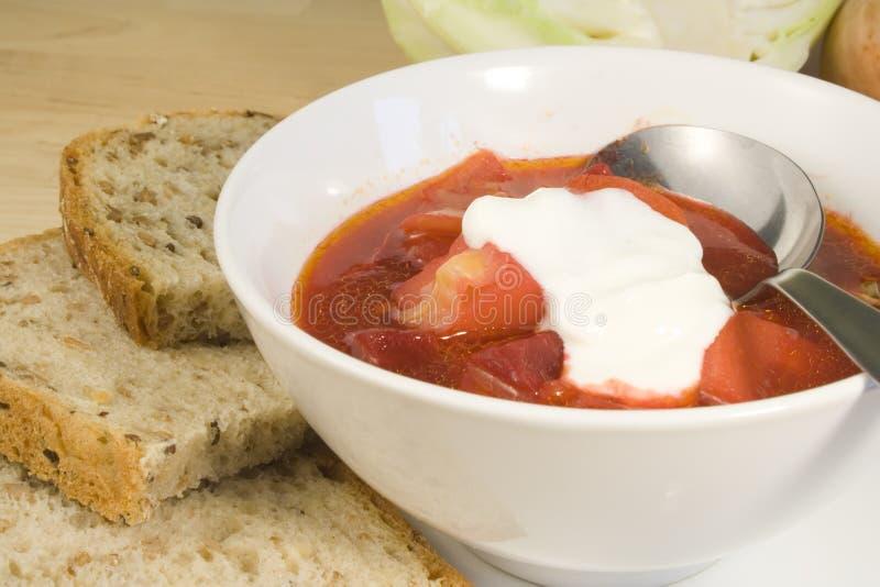 Vegetable soup - borscht stock photography