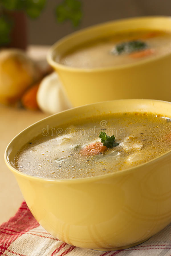 Download Vegetable Soup With Noodles Stock Photo - Image: 18842798