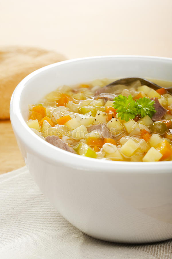 Download Vegetable Soup Scotch Broth Stock Photo - Image of nobody, lamb: 26071746