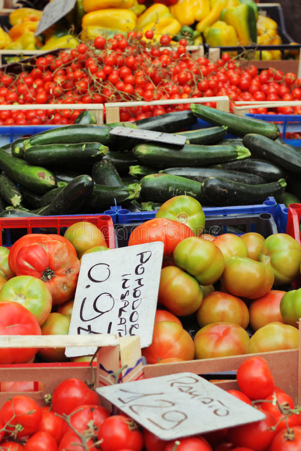 Vegetable stall stock photography