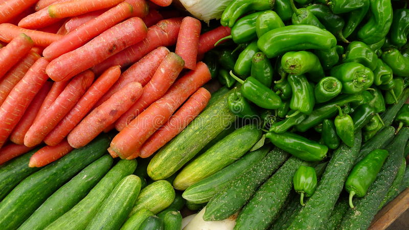 Download Vegetable Stand stock photo. Image of healthy, peppers - 16535634