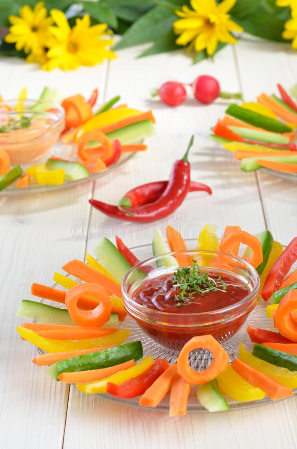 Vegetable sticks royalty free stock photos