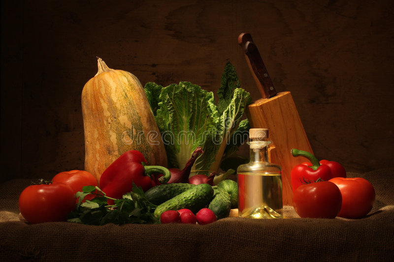 Vegetable still life stock images
