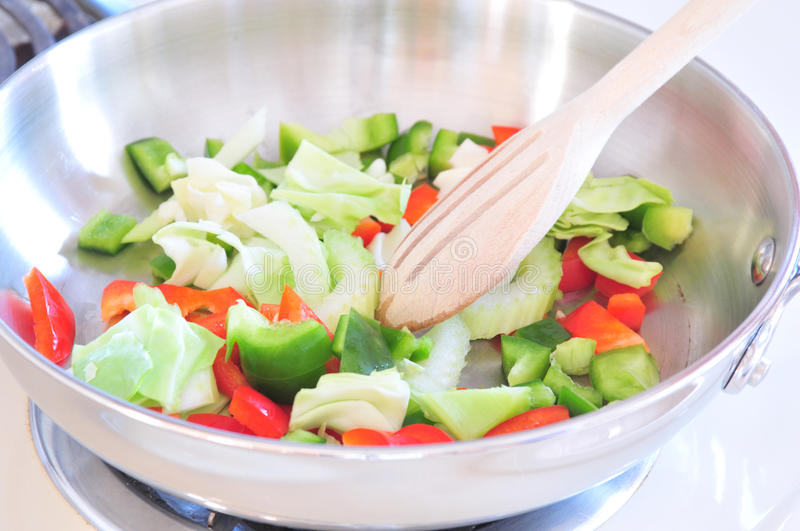 Vegetable Stir Fry. An image of vegetable stir fry royalty free stock photography