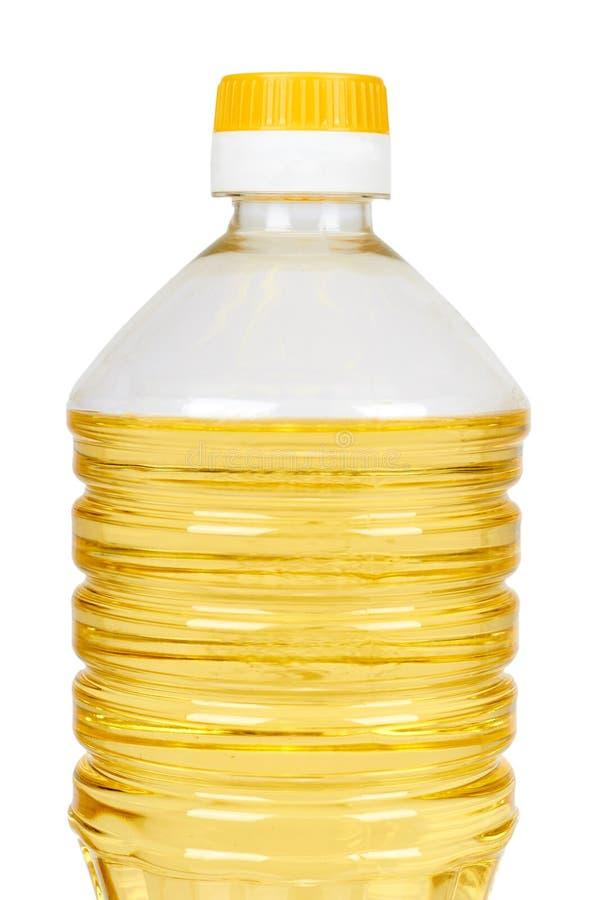 Vegetable or sunflower oil in plastic bottle isolated on white background stock images