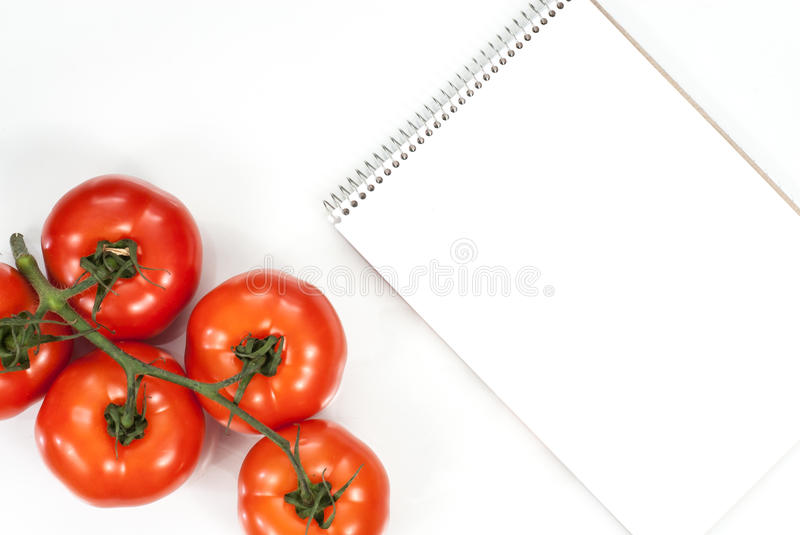 Vegetable tomato fitness concept. Top view. stock photo