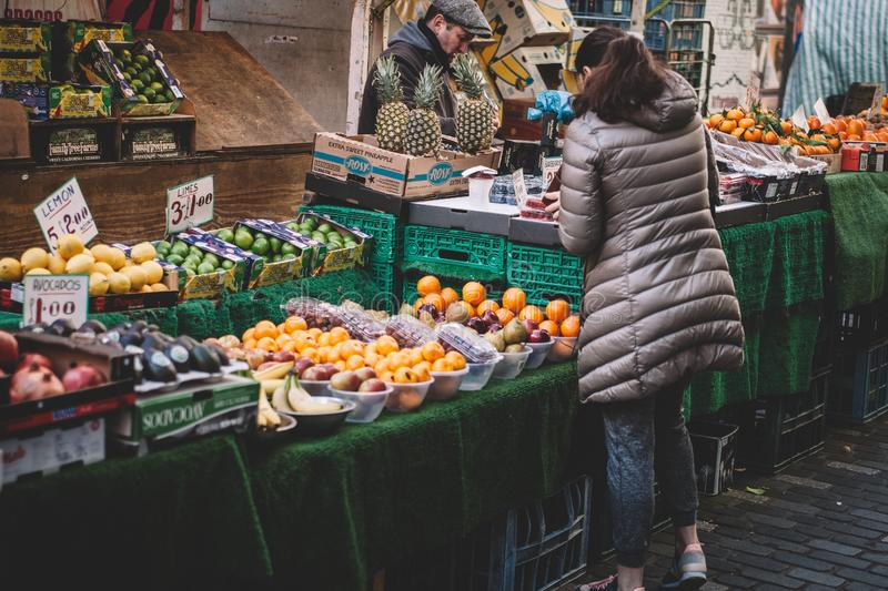 Vegetable vendor royalty free stock image
