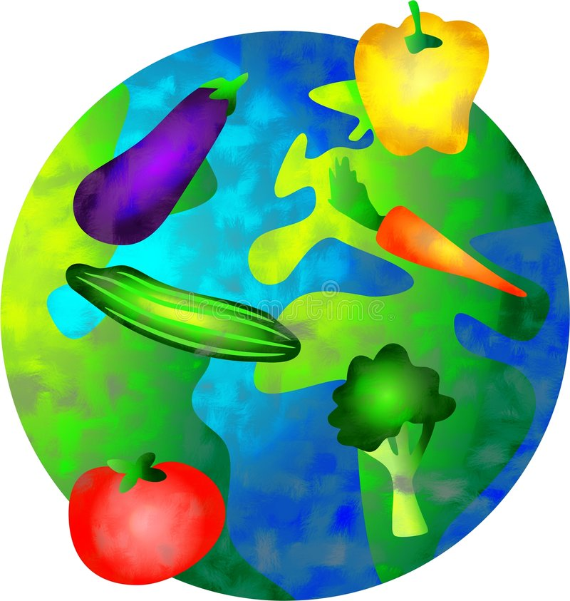 Vegetable world vector illustration