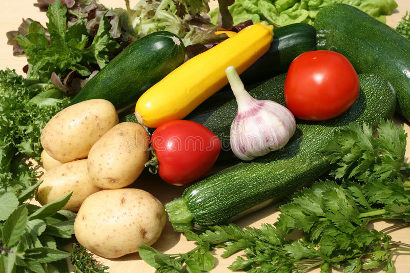 Vegetables. Fresh vegetables composition. Colorful and delicious vegetarian produce stock image