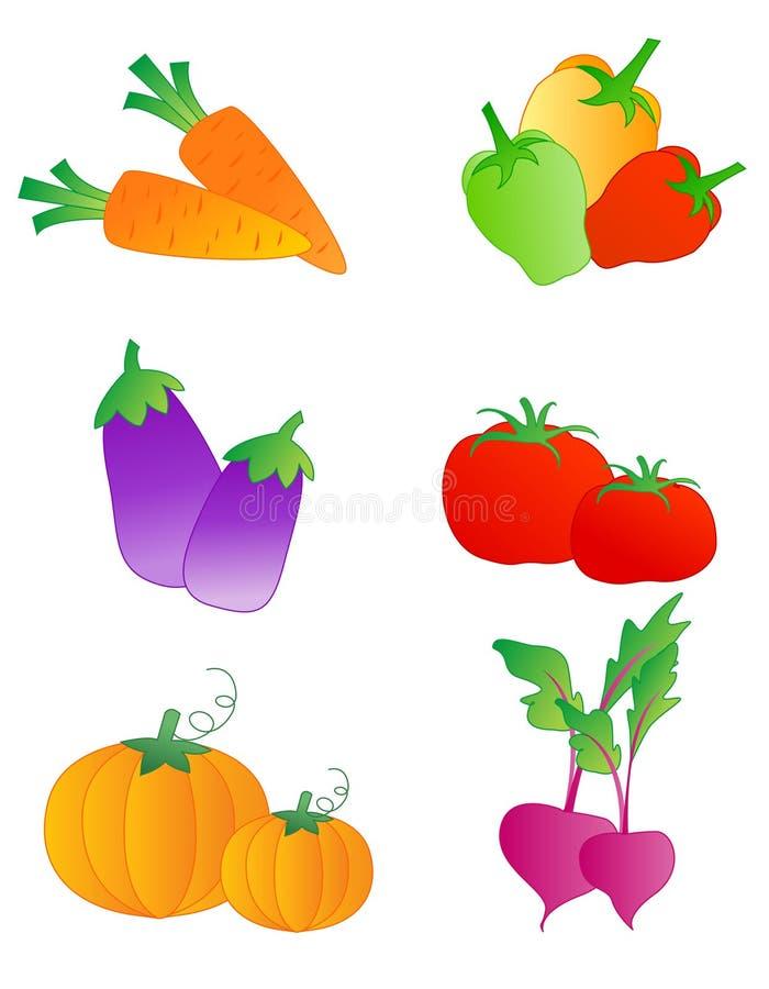 Vegetables. Fresh vegetables isolated on white background royalty free illustration